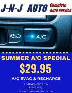 Auto A/C Service & Repair Phoenix | JNJ Auto